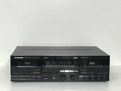 Vtg Pioneer Stereo Double Cassette Deck CT-W600R Recorder Player Japan Made