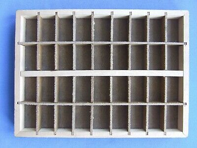 Letterpress Printing Adana Small Typecase Type Tray 36 hardboard divisions Nice!
