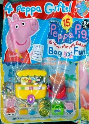 PEPPA PIG BAG OF FUN MAGAZINE ISSUE #114 ~ NEW WITH 4 x PEPPA GIFTS ~