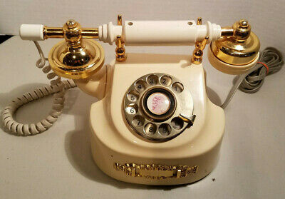 Vintage Western Electric Brass French Princess Coquette Rotary Phone