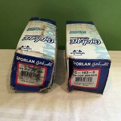 """LOT OF 2 Sporlan CATCH ALL C-163-S 3/8"""" ODF Solder Filter Drier FREE SHIPPING"""