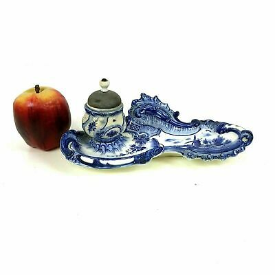 Antique Delft Inkwell