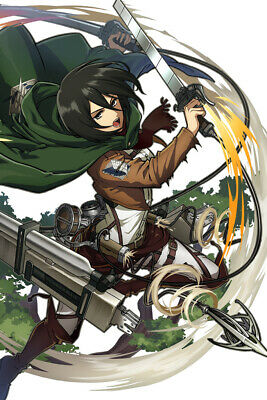 Anime Attack On Titan Mikasa Ackerman Silk Poster Wallpaper