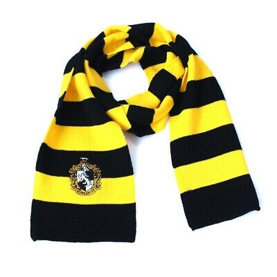 New Harry Potter Hufflepuff Knit Wool Scarf  Costume Cosplay US SELLER
