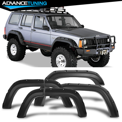 FITS 84-01 JEEP Cherokee Xj Pocket Style Fender Flares Wheel Cover