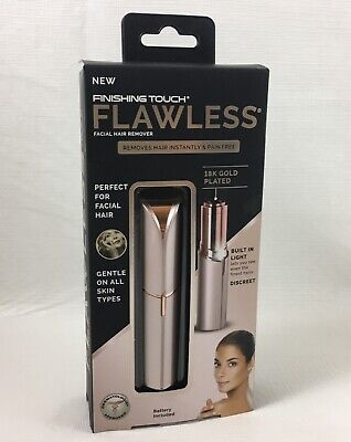 Flawless by Finishing Touch Women's Facial Hair Remover, Gold - As Seen on TV