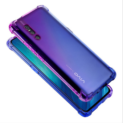 Shockproof  Case Transparent Silicone Gradient Airbag TPU Cover For VIVO X27