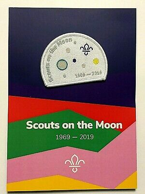 50 years FIRST SCOUTS ON THE MOON Badge, Astronauts were Scouts, NASA Apollo 11