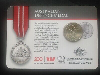 """2017 Australian 20 cent coin """"Victory Medal"""" - Legends of the ANZAC"""