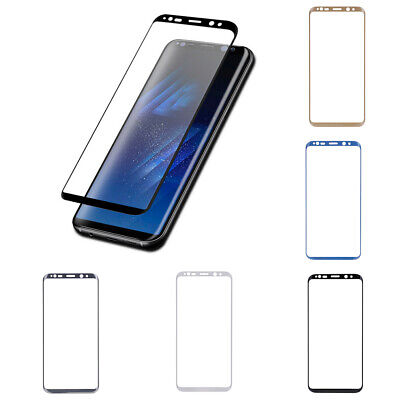 For Samsung Galaxy S8 Plus Tempered Glass Screen Protector Film 3D Curved Edge