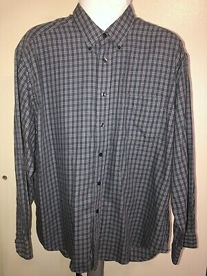 Dockers Blue/cream Striped Mens Long Sleeve Shirt Size LX