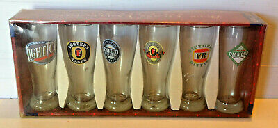 Vintage Rare Metro Beer 6 Glass Collection CUB
