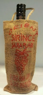 Jute vintage wine carry bag