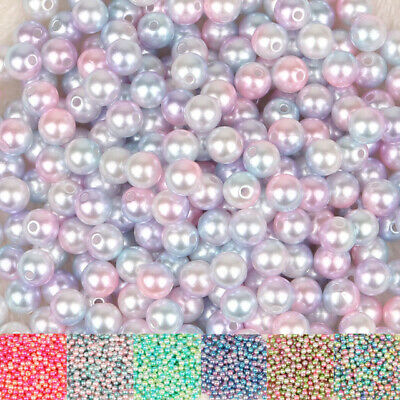 ABS  Pearl Beads Round Loose Beads Handmade DIY Necklace Bracelet Jewelry Making