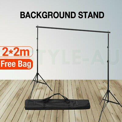 2X2M Backdrop Stand Heavy Duty Photography Studio Screen Background Stand Kit