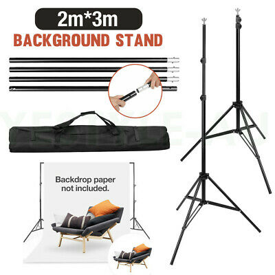 2x3M Heavy Duty Stand Photography Studio Screen Stand Support Kit For Backdrop