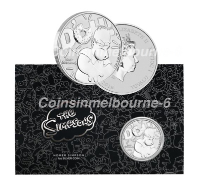 2019 Homer Simpson 1oz Silver Coin Carded - Perth Mint Australia