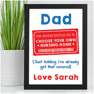 PERSONALISED Funny Birthday Gifts For DAD GRANDAD