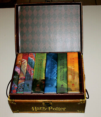 Harry Potter Hard Cover Boxed Set Books Years 1-7 in Trunk by J. K. Rowling