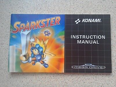 Sparkster Manual - Sega Mega Drive - NO GAME MANUAL ONLY (PAL)