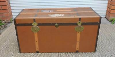 Vintage Shipping Luggage  Trunk