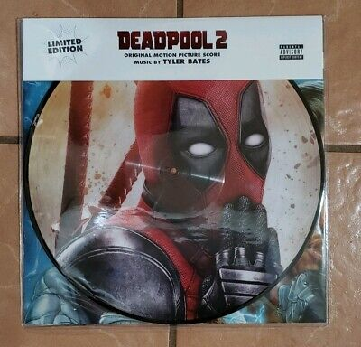 New  Deadpool 2 Vinyl LP with Poster Limited Exclusive Release Picture Disc