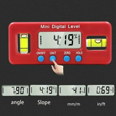 Digital Level Scale Inclinometer Box Protractor Magnetic Angle Bevel Gauge