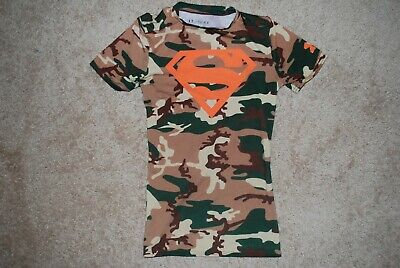 1a60da16 Under Armour Alter Ego Superman Dark Camo Compression Shirt (Youth Medium)