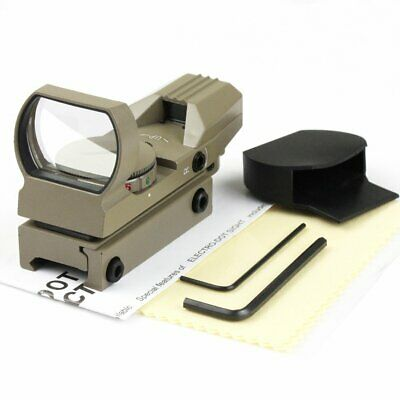 Holographic 4 Reticle Red/Green Dot Tactical Reflex Sight Scope New