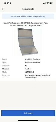 Ideal Pet Products 33SWDXL Replacement Flap For Ultra Flex Extra Large Pet Door