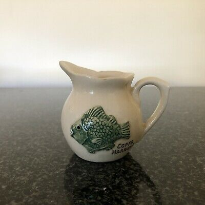 Rose Noble Jug Embossed Green Fish Coffs Harbour  Australia Pottery Stamped Base