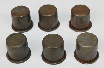 6 VINTAGE STYLE METAL SPOUT DUST CAPS for MASTER OIL BOTTLE SPOUTS