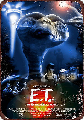 E.T. the Extra Terrestrial movie Classic Wall Poster Vintage Retro tin sign