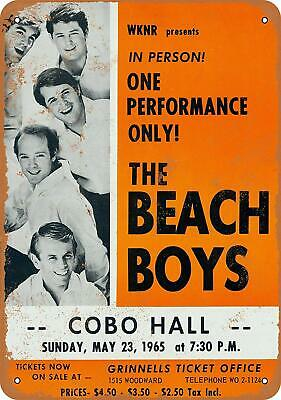 Beach Boys in Detroit Vintage Look Reproduction Metal Sign 8 x 12