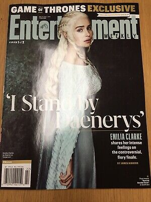 ENTERTAINMENT WEEKLY Game Of Thrones Emilia Clarke 2019 Cover 1 Daenerys GOT