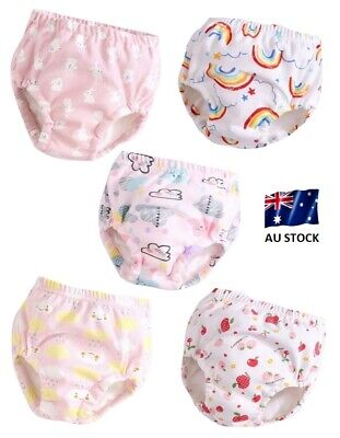 Baby Toddler BreathableToilet Potty Waterproof Training Pants 6 Layers - 5 Pack
