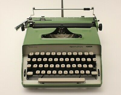 Remington 2000 Typewriter Sperry Rand green color - working functional vintage