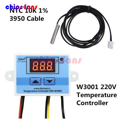 DM-W3001 220V 10A Digital LED Temperature Controller Thermostat Switch Probe