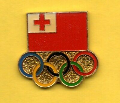 Pin's pins Lapel pin JEUX OLYMPIQUE Olympic game FLAG DRAPEAU ANNEAUX RING TONGA