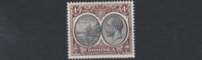 Dominica  1923 - 33   S G  81    4D   Black  &  Brown             Mh