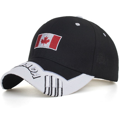 Embroidery Baseball Cap Canada Flag Maple Leaf Adjustable Mens Hats Trucker Hat