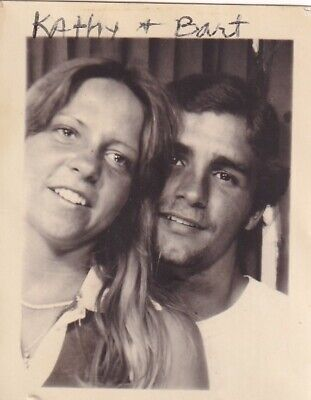 Vintage Photo Booth: Attractive Happy Young Couple