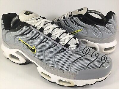 7228c56881 Nike Air Max Plus Tn Grey Black White Yellow 2015 Mens Size 10.5 Rare  604133-