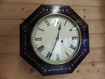 Early English Fusee dial clock Flame Mahogany movement Fully Restored 1860s