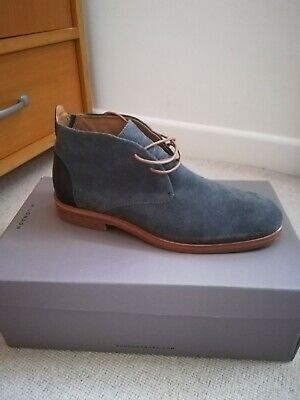 e76ec59ee809f MENS H BY Hudson Matteo Suede Shoes Lace Up Casual Work Ankle Boots size 41  / UK