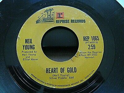 NEIL YOUNG Heart of Gold / Sugar Mountain 45 rpm Vinyl RECORD  REPRISE #1065
