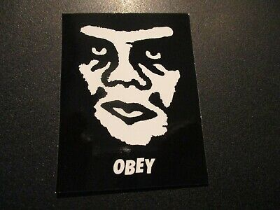 "SHEPARD FAIREY Obey Giant Sticker 1.25X1/"" MINI ANDRE TOP LOGO from poster print"