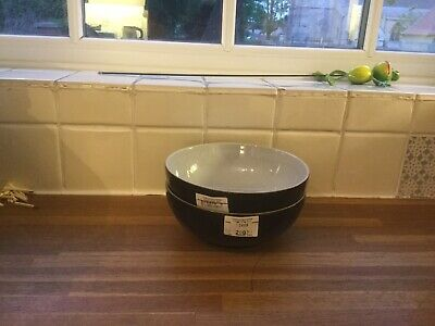 Denby - Everyday Black Pepper Coupe Cereal Bowl X2 - 1st Quality - BRAND NEW