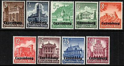 Germany 1940 Occupation of Luxembourg  Winter Relief Fund  SG.429/437 Mint (MNH)
