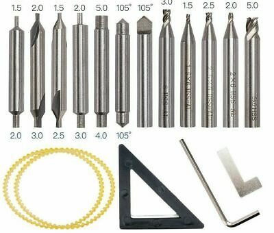 Drill Bits Milling Cutter Set For 368A Locksmith Tool Parts Vertical Key Machine